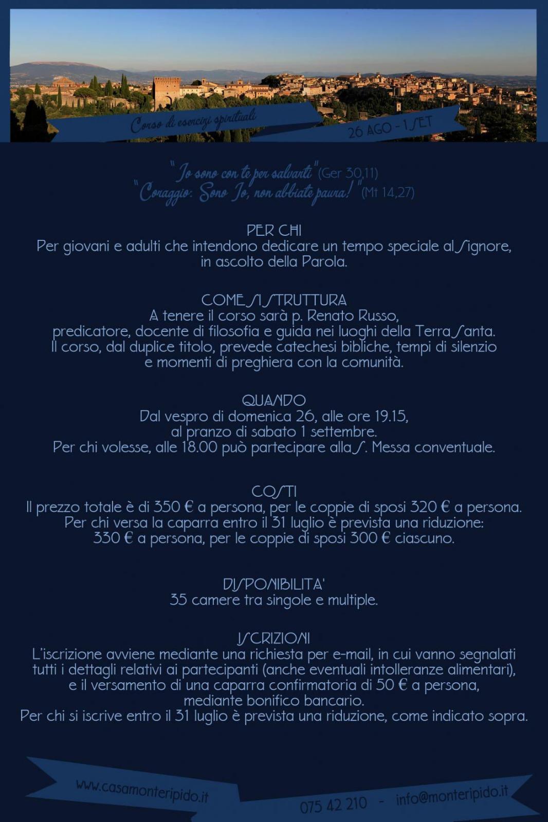 Calendario Esercizi Spirituali 2020.Assisi Ofm News Io Sono Con Te Per Salvarti Assisi Ofm